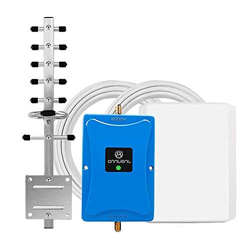 Cell Phone Signal Booster for Home and Office - Band 4 Cell Phone Signal Repeater Amplifier for Verizon AT&T 4G LTE - High Gain Panel/Yagi Antennas Extend Coverage Up to 4,500Sq Ft