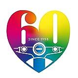 スーパーカブ [SuperCub] ロゴ ステッカー 60周年 ステッカー スーパーカブ シール 60周年 ステッカー HONDA Super Cub Sticker スーパーカブ ステッカー スーパーカブシール スーパーカブステッカー (60.Rainbow)