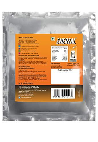 Enerzal Energy Drink Powder, Orange, 1 kg