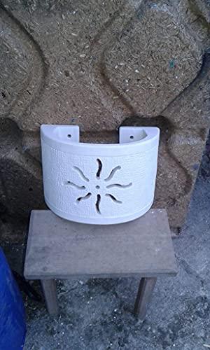 Porta lampada Applique da parete in Pietra bianca di Ostuni - fatta a mano e su misura- Applique da parete per Interni/Esterni (bianco, Pietra)