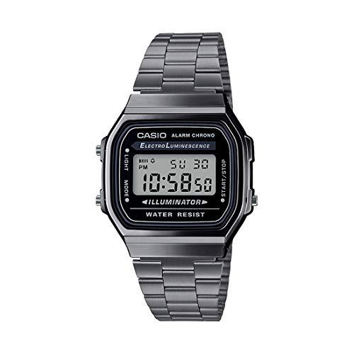 Casio Vintage Series Digital Black Dial Unisex's Watch-A168WGG-1ADF