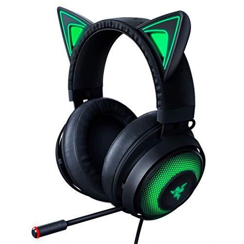 Razer Kraken Gaming Headset: Leichter Aluminiumrahmen – einziehbares geräuschisolierendes Mikrofon – für PC, PS4, Nintendo Switch – 3,5 mm Kopfhörerbuchse klassisches schwarz Headset