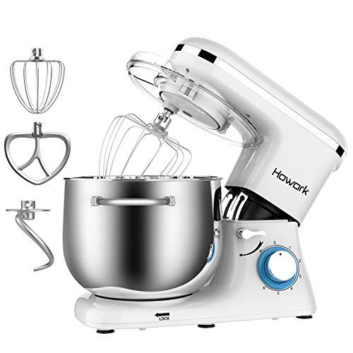 Capacità 8 liter Impastatrice Howork, 1500W Planetaria Robot da cucina per pane, pizza, dolci e pasticceria, 6...