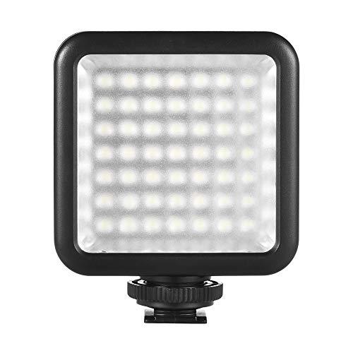 Andoer 49 LED Luce Fotografia, Luce Video Dimmerabile per DSLR Videocamera Gimbal Macro Fotografia
