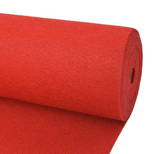 vidaXL Tappeto Piatto da Esposizione Poliestere Multiuso Rosso Corsia Moquette