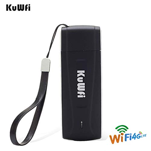 KuWFi Unlocked Pocket 4G LTE USB Modem Router mobile WiFi Router Network Hotspot 3G 4G WiFi Modem Router with SIM Card Slot Support LTE B1/B3/B5 WiFi for Car outdoor Not applicable T-Mobile EU Version