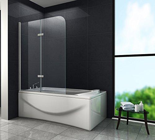 Duschtrennwand BREASE 100 x 140 (Badewanne)