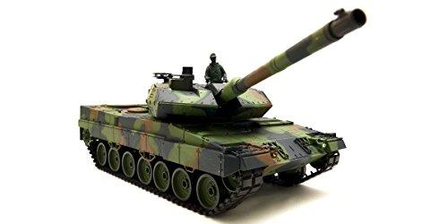 """Ferngesteuerter Panzer mit Schussfunktion \""""German Leopard 2A6\"""" Heng Long 1:16 mit Rauch&Sound und Metallgetriebe -2,4Ghz -V6.0"""