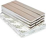 Strong Magnets Rare Earth Neodymium: Bar Adhesive Super Permanent Metal Rectangular, 60x10x3mm, Powerful Pull Force, 12 Pack| Heavy Duty, Fridge Door, Garage, Kitchen, Science, Craft, Art, Office, DIY