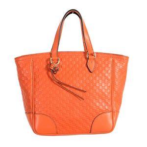 Gucci 100% Leather Orange Women's Handbag Shoulder Bag 3