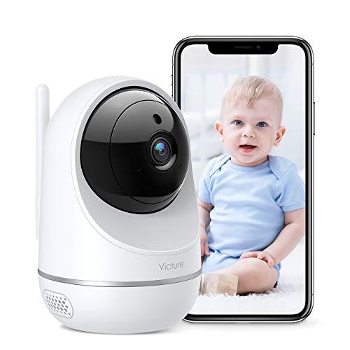 Victure Telecamera Wi-Fi Interno, 1080P Dualband 2.4Ghz & 5Ghz WiFi,Telecamera Sorveglianza WiFi, Baby Monitor con Visione Notturna, Rilevamento del Movimento Attraverso IPC360 Home App
