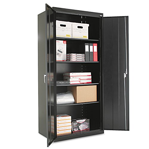 Alera ALECM7824BK Assembled 78' High Storage Cabinet, w/Adjustable Shelves, 36w x 24d, Black
