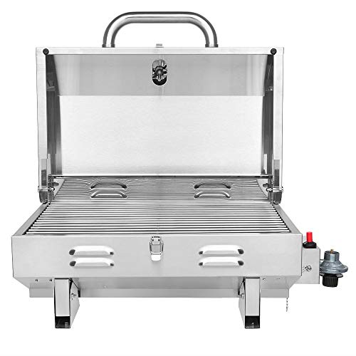 Product Image 3: ROVSUN Portable Propane Gas Grill 12,000BTU, Tabletop Outdoor Cooking Grill for Picnic Camping Tailgating Patio Garden BBQ, <a href=