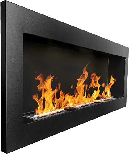 Bio Ethanol Fire BioFire Fireplace Modern 1400 x 400 Black XXL
