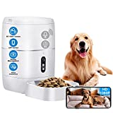 LeeKooLuu Q01 HD 1080P Camera WiFi Smart Feeder 6L Automatic Cat Feeder Automatic Dog Feeder Timer Programmable Voice and Video Recording Enabled App for iPhone and Android Compatible with Alexa