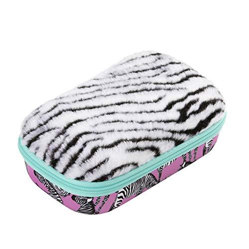 Zipit Pelz - Astuccio portapenne con tasca interna, motivo zebrato