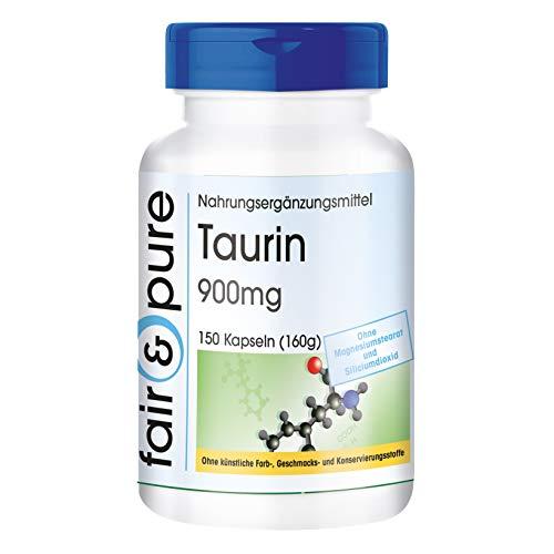 Taurin 900mg - hochdosiert - vegan - 150 Taurin-Kapseln