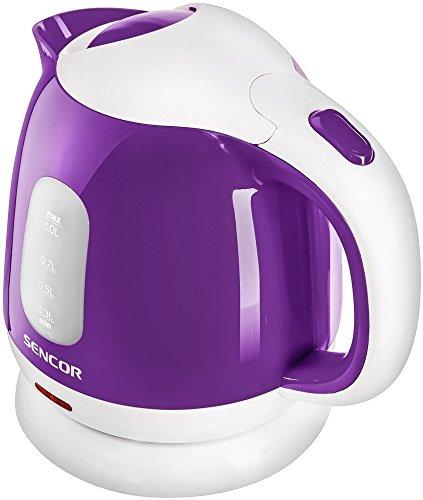 SENCOR SWK 1015VT, Hervidor de Agua Eléctrico con Filtro Extraíble, 1100 W, 1.0 litro, Polímero Libre de BPA, Blanco / Violeta