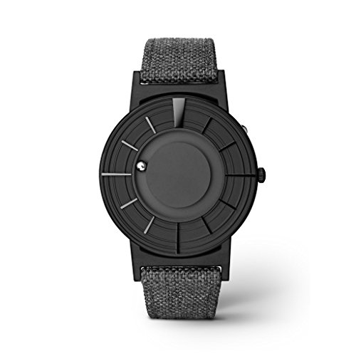 eone Bradley Rand Keramik schwarz grau Canvas Armbanduhr