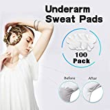 Underarm Sweat Pads, 100 Pack Premium Quality Fight Hyperhidrosis for Men and Women, Comfortable, Non Visible, Sweat Free Armpit Protection.