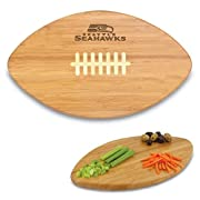 """Officially licensed NFL product Measures approx. 15"""" x 9"""" x .75"""" Made of bamboo Surface Wash Only Picnic Time limited lifetime warranty"""