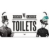 Nostalgic-Art 28014 Plaque à Suspendre Ladies & Gentlemen Toilets – Idée de Cadeau pour Les nostalgiques, en métal, Déco Design Retro, 10 x 20 cm