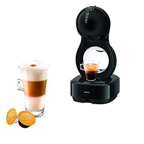 Krups Nescafé Dolce Gusto Lumio noire Machine à café, Ultra compact, Cafetière a dosette, Multi-boissons, Design, Porte capsule exclusif, Réservoir 1L, Pression 15 bars, Mode éco KP130810