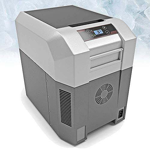 BLUEFIN Mini Frigorifero Congelatore con Compressore Portatile (24/33/42/60/80 L) Elettrico, Con Cavo CA o CC | Per Cibo, Bevande, Vino | Ideale per Campeggio, Viaggi, Picnic, Auto (24 litri)