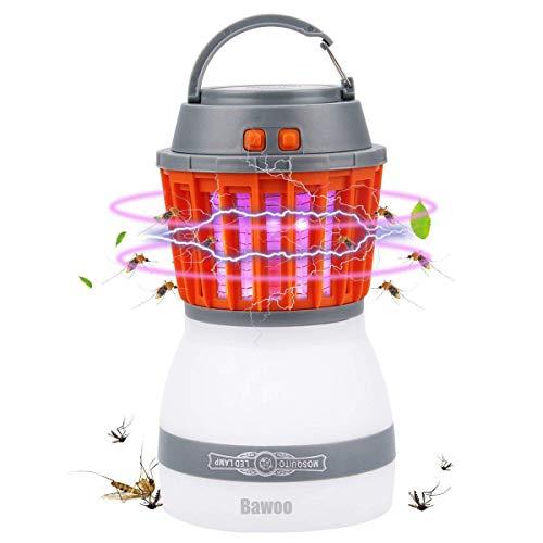 Lampe Anti Moustique LED UV Bawoo Lampe Camping 2 En 1 Lampe Torche...