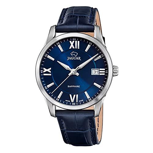 JAGUAR J883/2 Herren-Armbanduhr aus der Kollektion Acamar, 40 mm, blaues Lederarmband mit dunkelblauem Armband