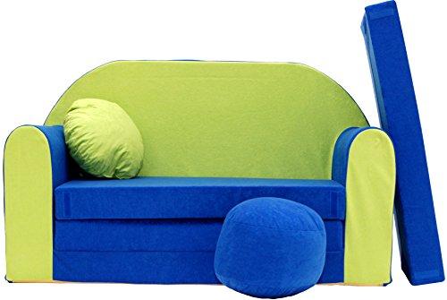 Pro Cosmo N Divano Letto per Bambini con Pouf/poggiapiedi/Cuscino, Tessuto, Multicolore, 168x 98x...