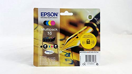 Epson C13T16264010 Cartuccia d'Inchiostro Multipack 16 per Workforce WF 2010 W/2510 WF/2520 Nf/2530...