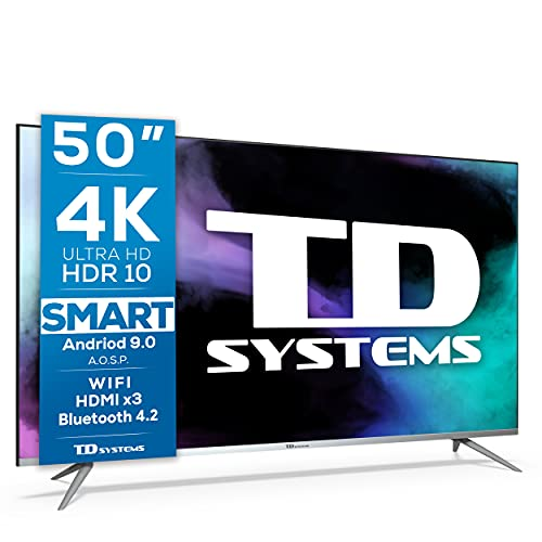 TD Systems K50DLJ12US - Televisores Smart TV 50 Pulgadas 4k UHD...