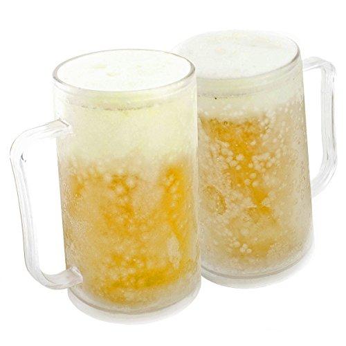 Boccale da birra per congelare: Tazza gelato ghiacciata tazza gelato tazza gelato tazza raffreddamento tazza 0,4 litro 400 ml bicchiere da bere con impacco di ghiaccio