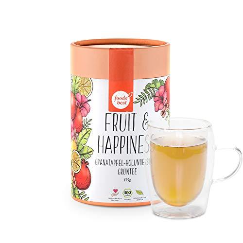 FRUIT & HAPPINESS   Feine Grüntee-Blätter   100% Bio   foodsbest®, Größe:175 GRAMM