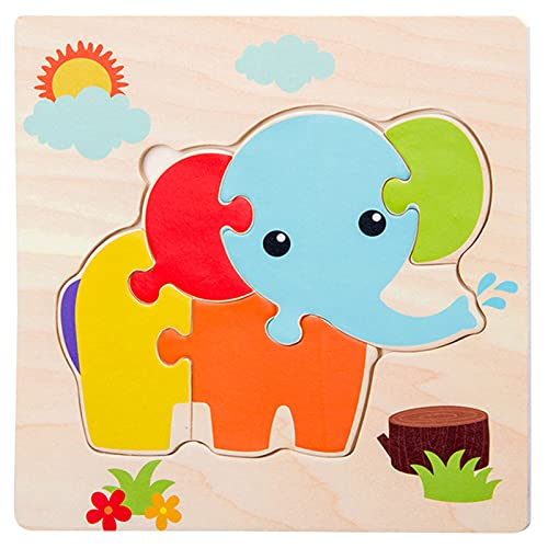 Wooden Puzzles Toddler Toys Gifts for 1 2 3 Year Old Boys...