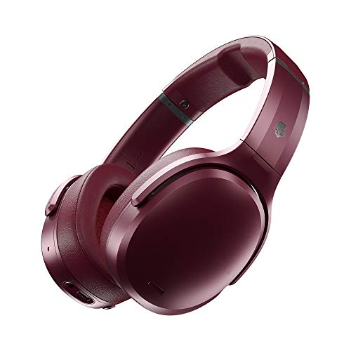 Skullcandy Crusher ANC Bluetooth Wireless Over-Ear Headphones, Noise Cancellation, Adjustable Bass,Up to 24 Hours Battery Life - Moab Red