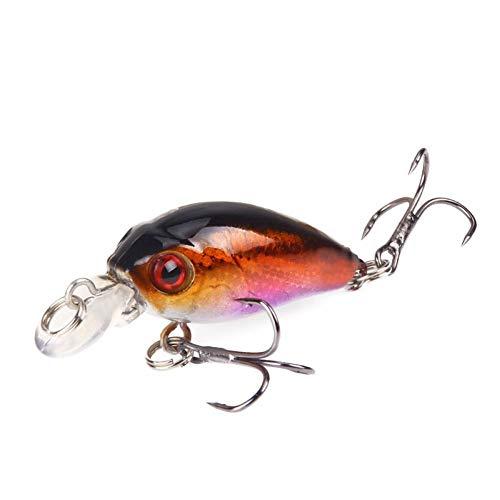 qkdop Minnow da Pesca 45Mm 3.8G Crankbait Esca Dura Topwater Artificiale Wobbler Bass Fly Accessori
