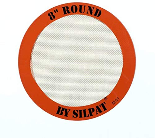 """Silpat Round Cake Liner Non-Stick Silicone Baking Mat, 8"""""""