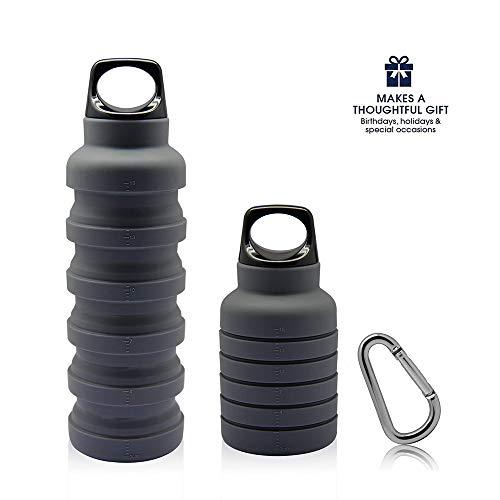 Faltbare Wasserflasche, Silikon-Wasserkocher für Reisen, Camping, Wandern,...