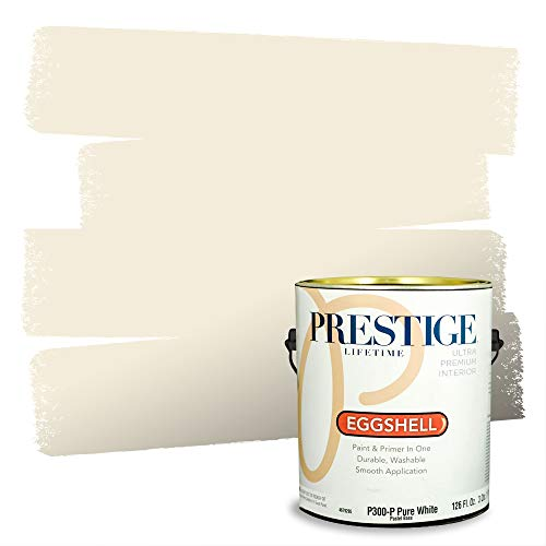 Prestige Paints Interior Paint and Primer In One, 1-Gallon, Eggshell, Comparable Match of Benjamin Moore* Linen White*