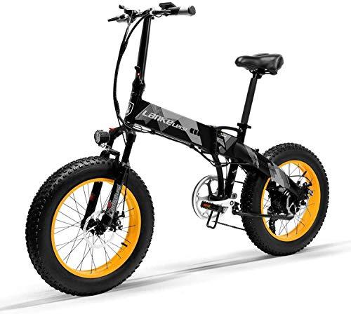Bicicleta Eléctrica Plegable Potente 1000W/500W 35km/h Ruedas Anchas...