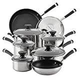 Circulon 70514 Acclaim Stainless Steel Cookware Pots and Pans Set, 13 Piece, Black