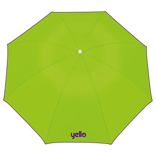 Yello Sonnenschirm, Lichtschutzfaktor 40,1,60 m, Sonnenschutz für Strand und Garten–grün