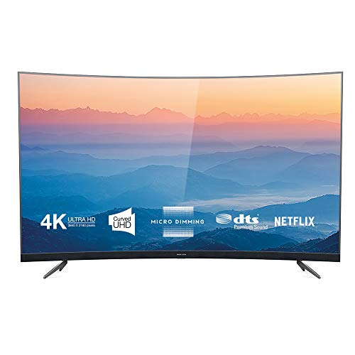 Thomson 65UD6696 Curved Fernseher 164 cm (65 Zoll) Smart TV (4K UHD, HDR, Dolby Digital Plus, T-Cast, Triple Tuner) Dunkelsilber