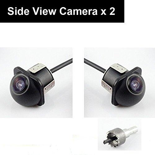 Auto Foratura Fotografica Laterale Side Mirror Cam Immagine Speculare Senza Griglia Lines No Blind Spot 20mm Hole Saw per Auto Monitor RCA Stereo - Confezione da 2