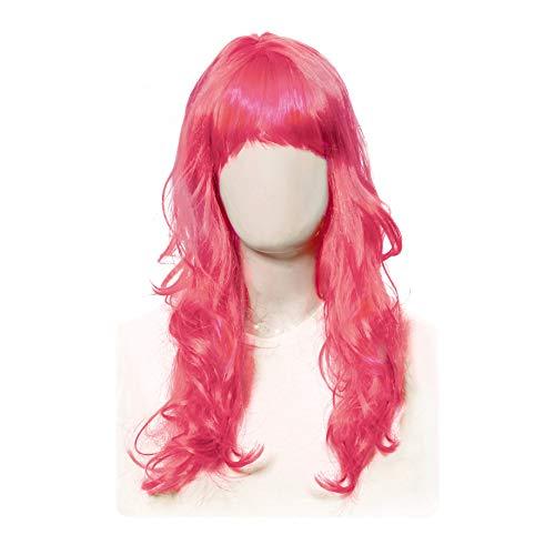 Acessorio peruca longa pink c/1 un