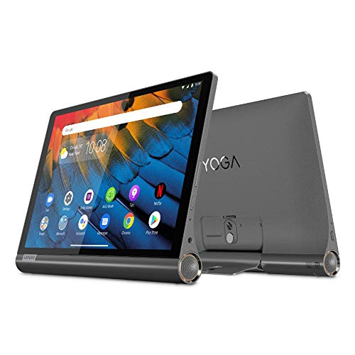 Lenovo YOGA Smart Tab 25, 5 cm (10, 1 pollici Full HD IPS Touch) Tablet PC (Qualcomm Snapdragon 439 Octa Core 4 A53 a 2,0 GHz + 4 A53 a 1,45 GHz, 4 GB RAM, 64 GB eMCP, Wi-Fi, Android 9) Nero