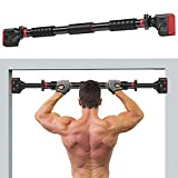 SHINYEVER Pull Up Bar for Doorway, Chin up Bar No Screw Installation with Adjustable Width Locking, Upper Body Workout Bar for Home Gym Exercise Fitness