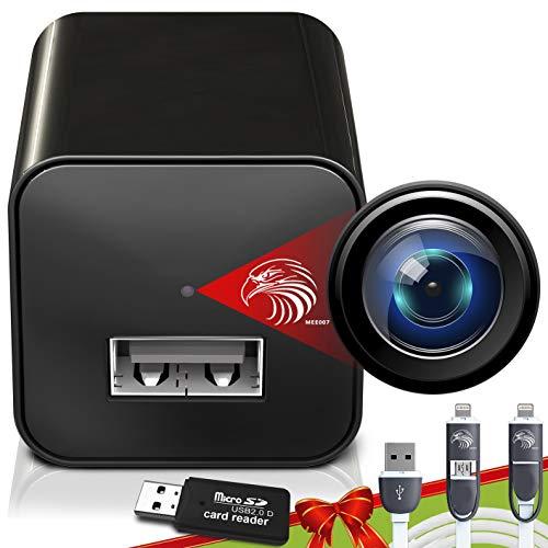 Spy Camera Charger - Hidden Camera - Premium Pack - Mini Spy Camera 1080p - USB Charger Camera…